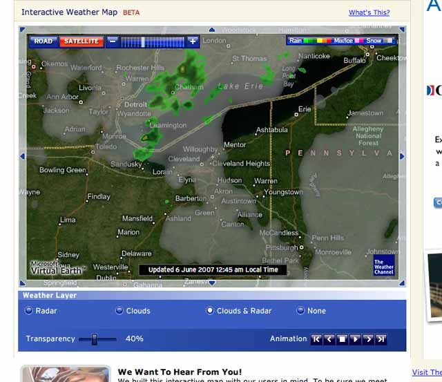 The Weather Channel's new radar application